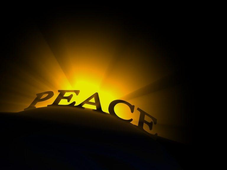 Let Peace Come!