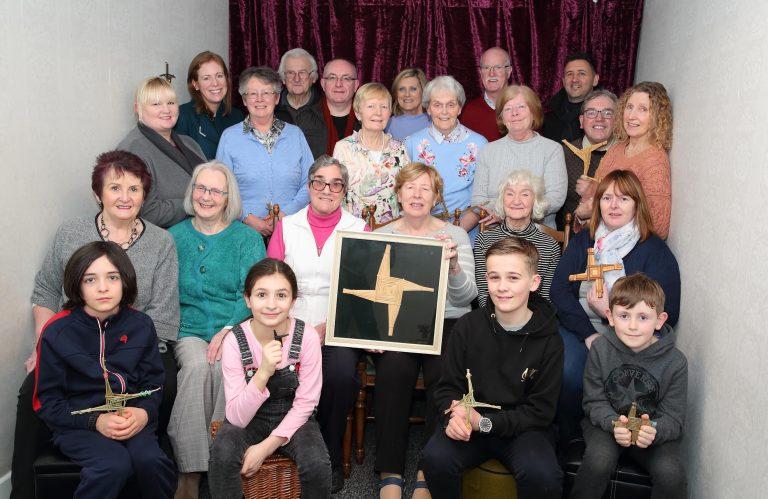 Weaving St Brigid's Crosses