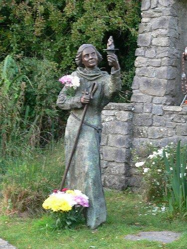 Statue of St Brigid at Well in Kildare
