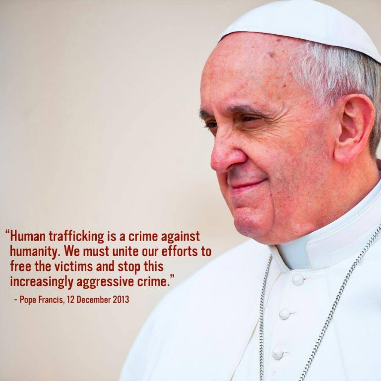 """To ignore trafficking is to be complicit in the crime"""