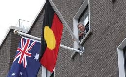 Australian Aboriginal Flag Flies in Dublin